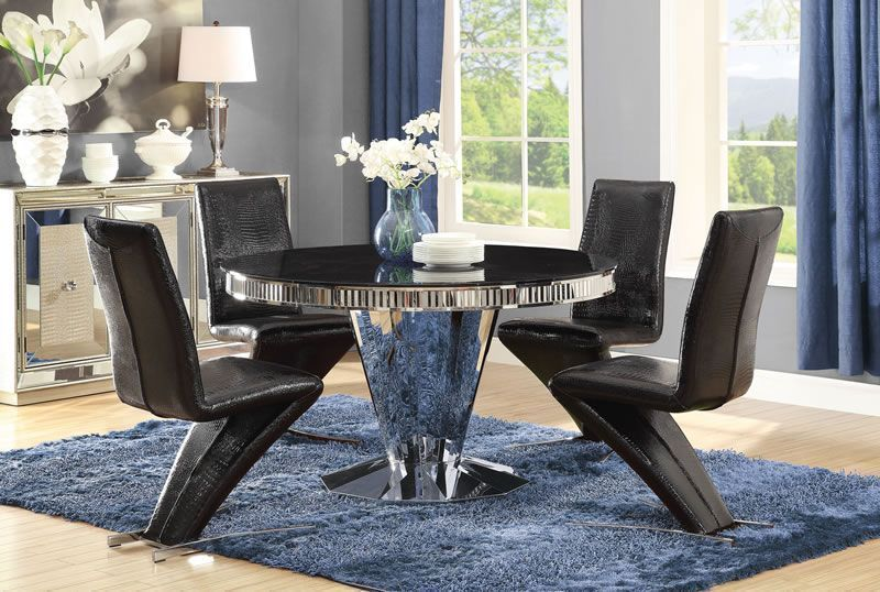 DINING TABLE (STAINLESS STEEL)
