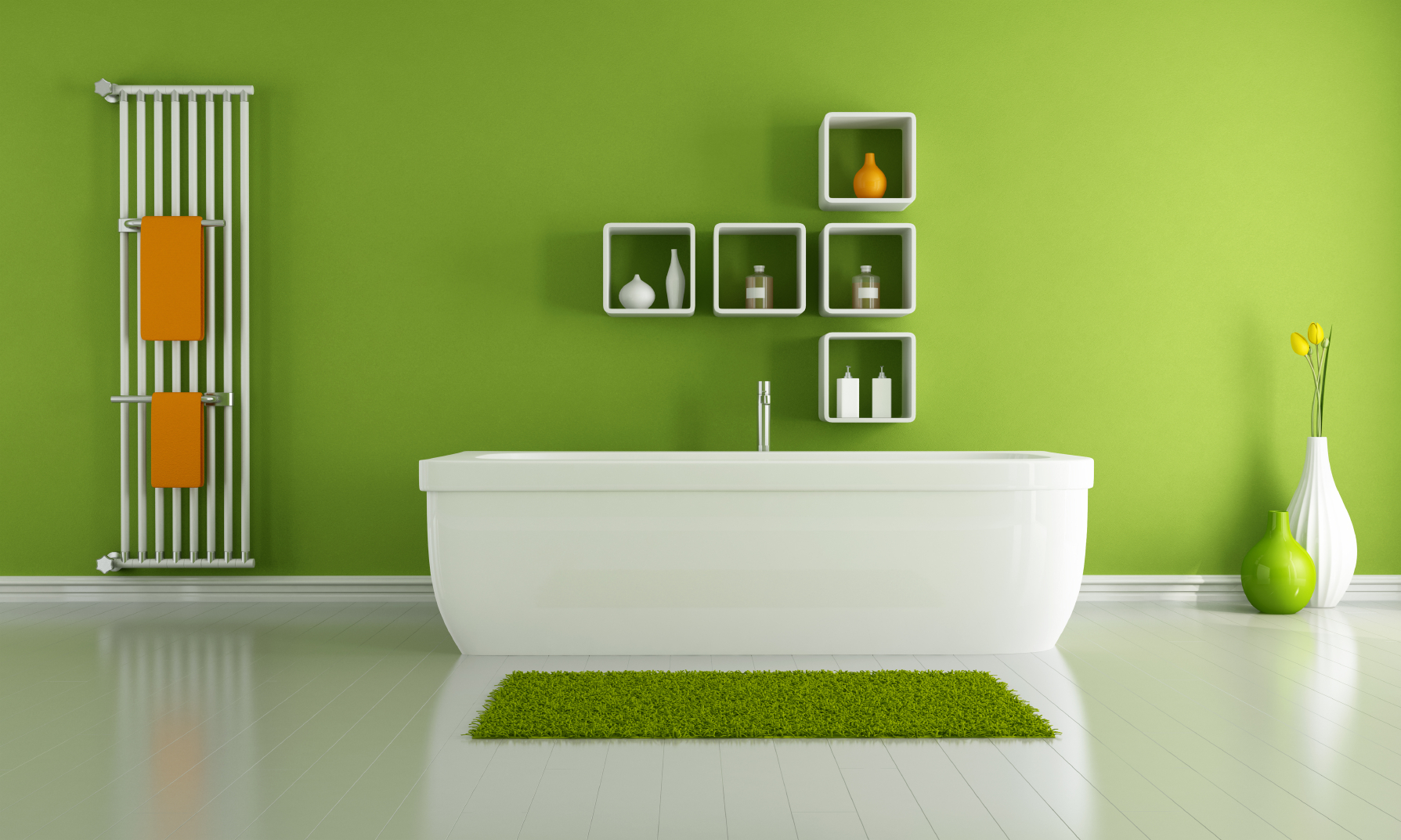 Discover How To Decorate The Bathroom Of Your Future Home - Green bathroom accessories sets for small bathroom ideas